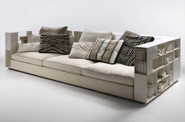 DIY Sofa Plan With Bookshelves