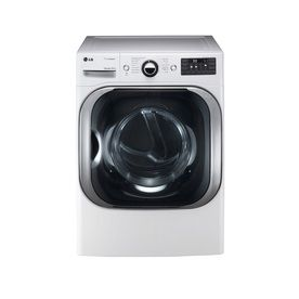 Lg 9 Cu Ft Electric Dryer With Steam Cycles White Electric Dryers Gas Dryer Stackable Washer