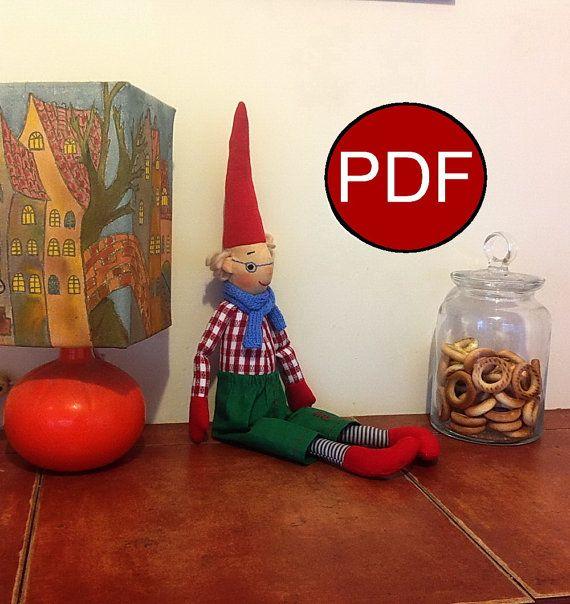 Elf Pattern Doll Pattern Diy Soft Doll Pattern Tutorial Cloth Doll