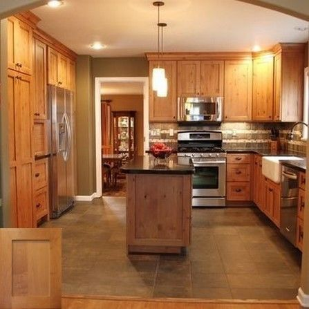 New Kitchen Cabinets Ideas. Wood look kitchen cabinets. ash #honeyoakcabinets