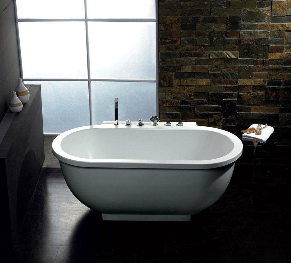 ARIEL Freestanding Whirlpool Bathtub - Platinum AM128 Imagine the ...