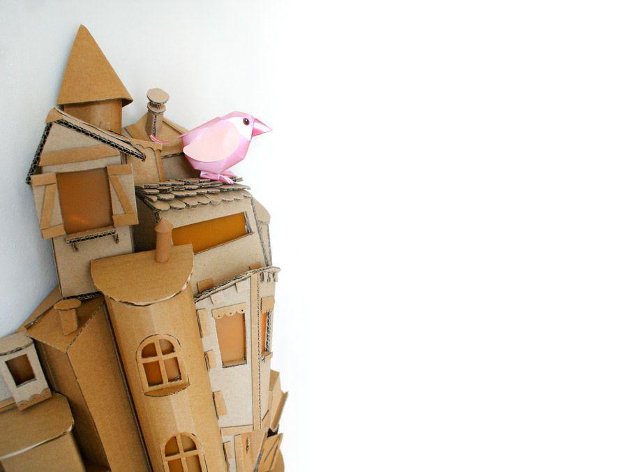 Oiseau Papier Paper Toy Bird Diy Bricolage Papier Paper