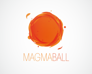 Magma Ball Logo Design A Lively Magma Ball Represent Constant And Chaotic Movement Of Fire Particles It S Like The Sun Little Si Sun Logo Logo Design Design