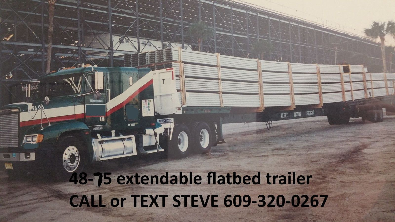 48 75 Foot Great Dane Extendable Flatbed Flat Bed Trailer Stretch