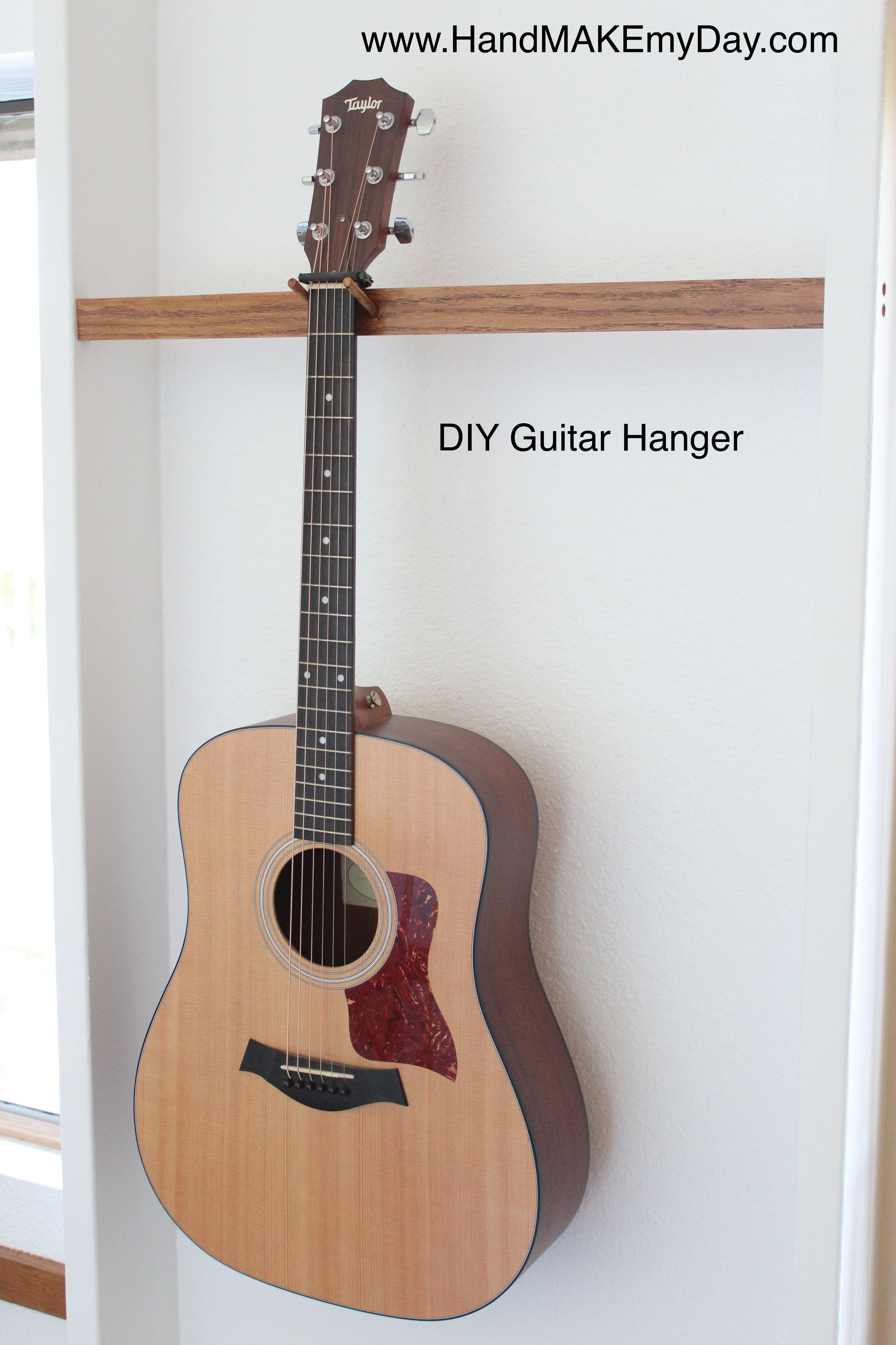 Diy guitar hanger guitar hanger guitar wall hanger