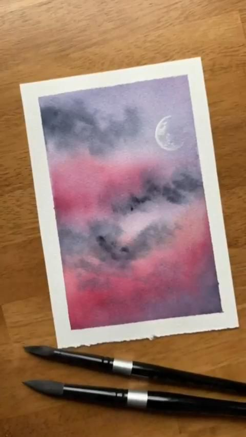 Easy Watercolor Painting Idea for Beginners