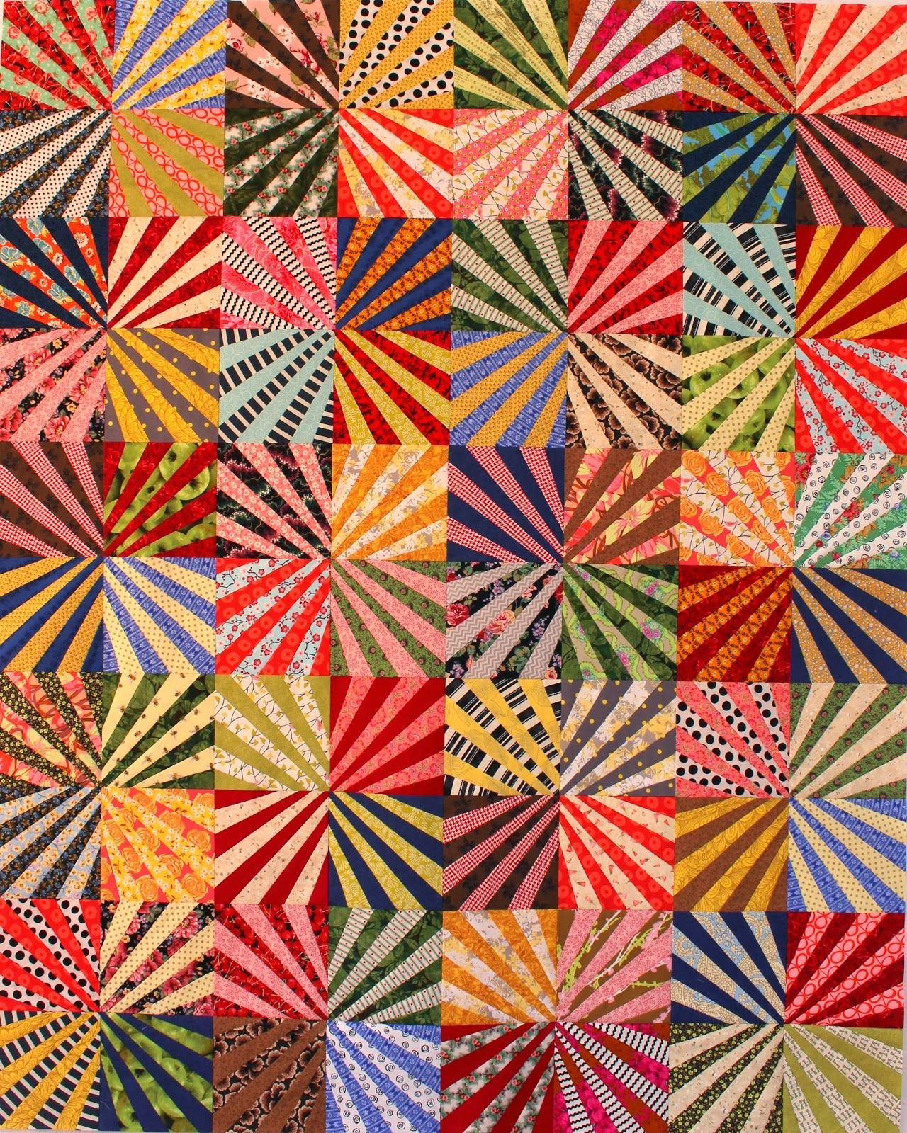 Great scrap quilt design! | Fabrics, designs and quilts ... : striped fabric quilt patterns - Adamdwight.com