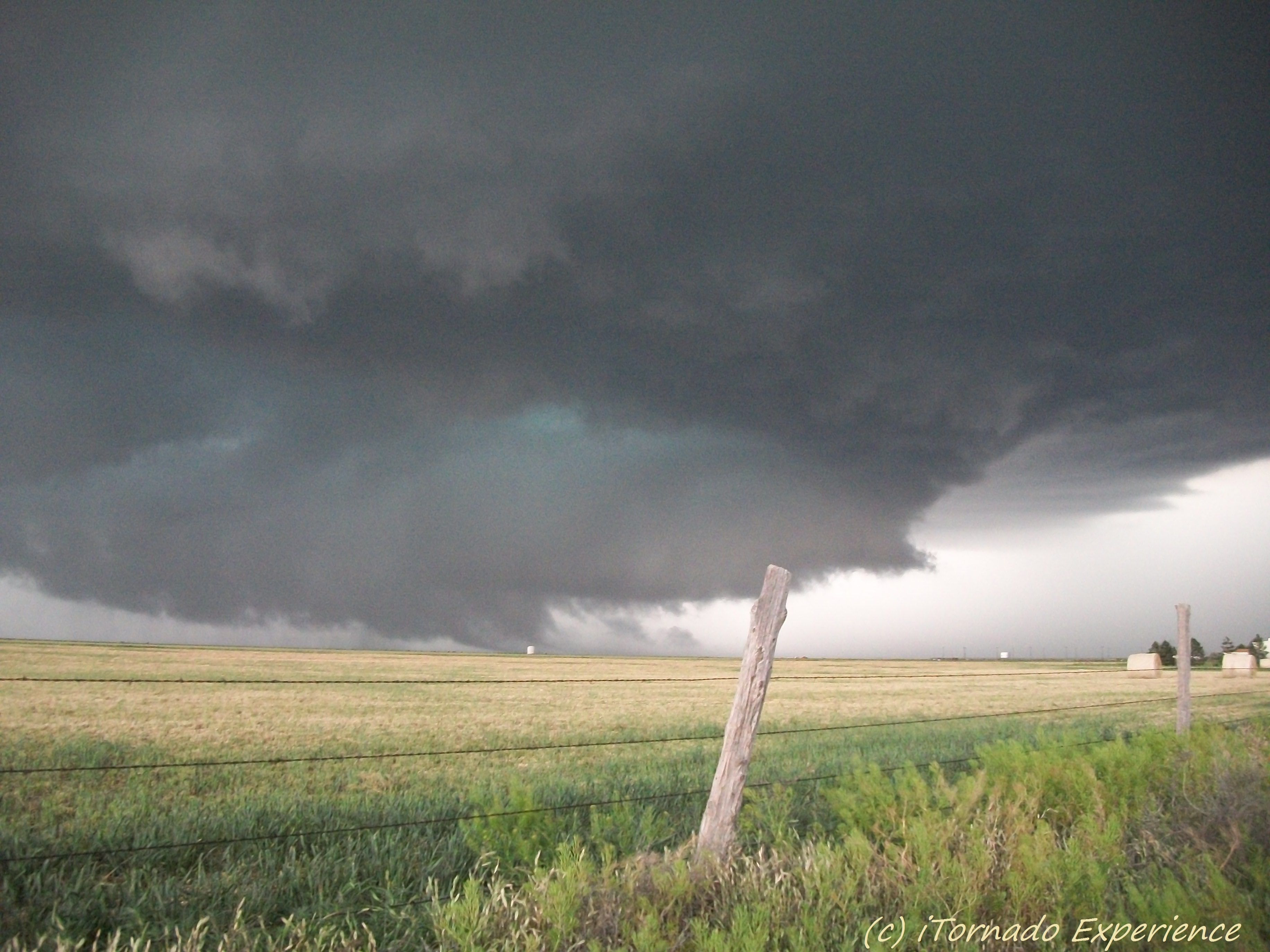 Tornado Warned Supercell Thunderstorm Near Stinnett Tx