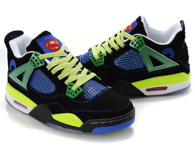 e513101398f08c 2012 Air Jordan 4 Shoes Yellow Blue Black Green in 2019