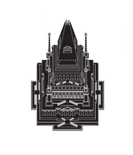 Johann Bernhard Fischer von Erlach, 'Mausoleum at Halicarnassus,' axonometric by…