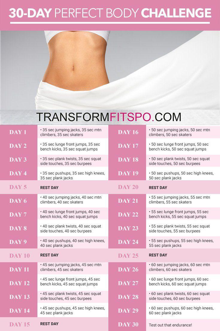 Perfect Body: 30 Day Challenge - Transform Fitspo