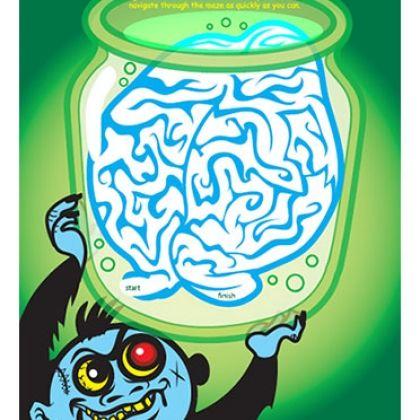 Monster Brain Maze for Halloween