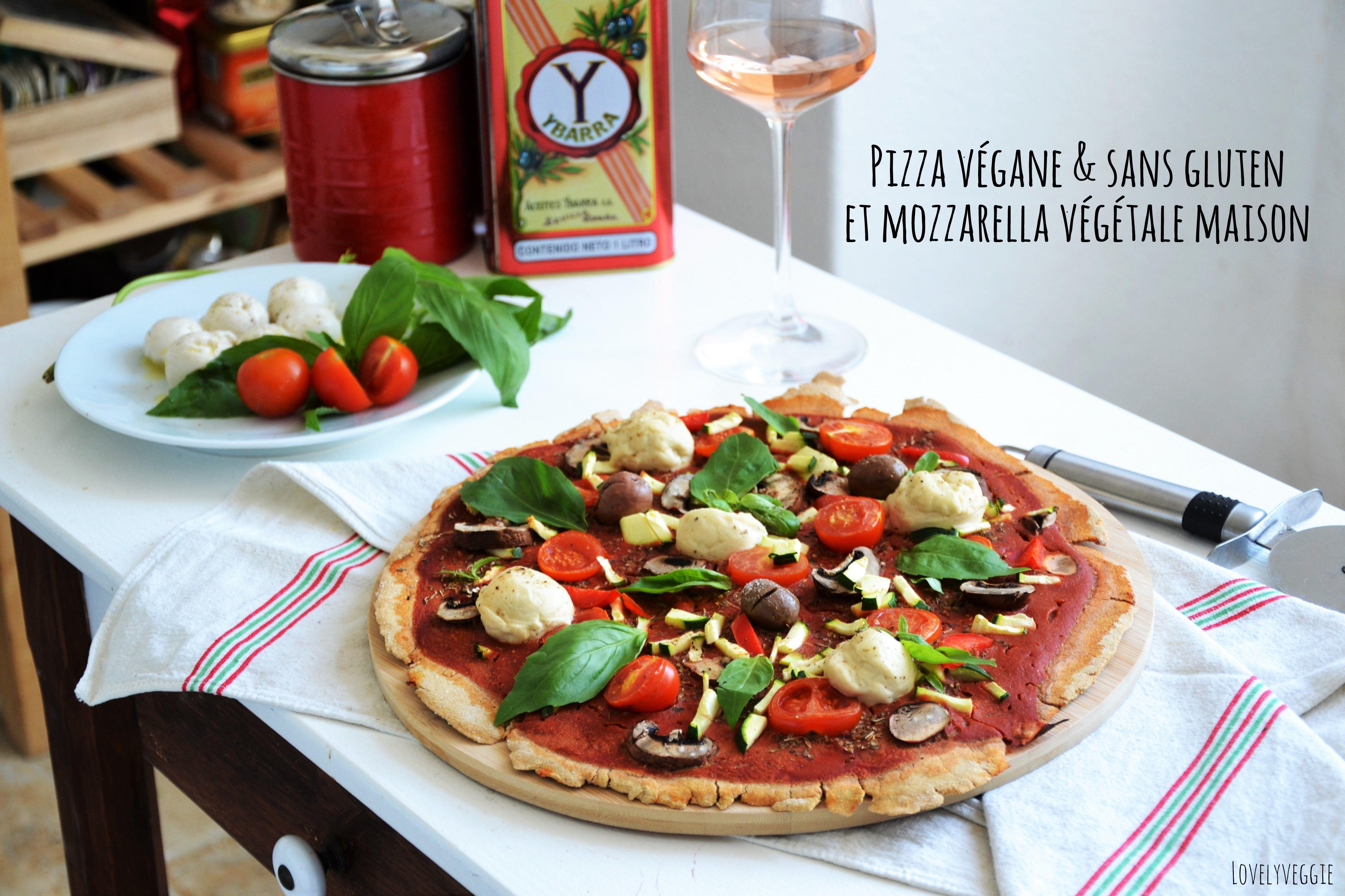 Pizza Vegane & sans gluten + Mozzarella maison   Recette ...