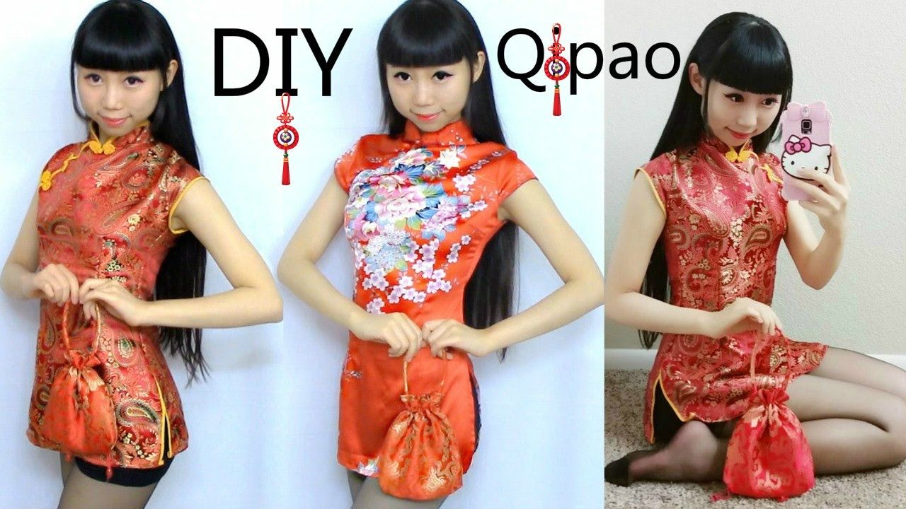 Diy Traditional Chinese Outfit Diy Qi Pao Cheongsam Create Your Own Pa Chinese Dresses Pattern Chinese Dress Diy Chinese Clothing Traditional