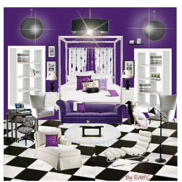 The Purple Black And White Room Created By Ramc Kid S