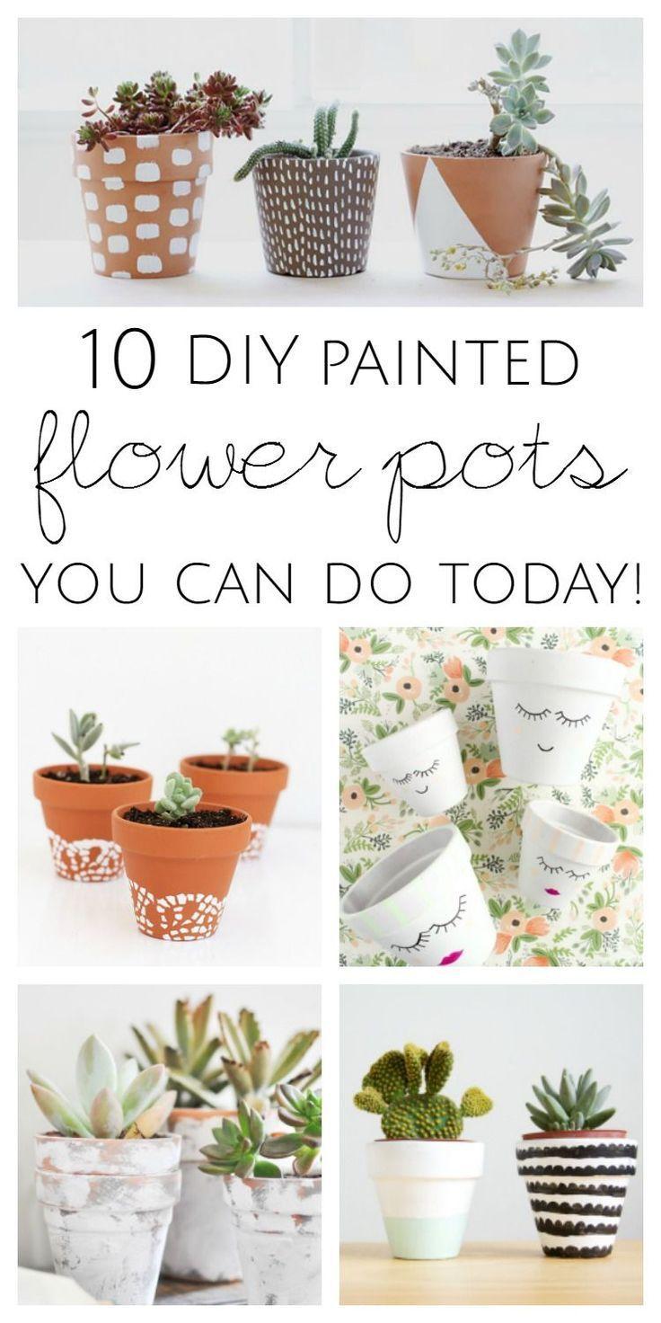 10 DIY Painted Flower Pot Ideas You Can Do Today #flowerpot