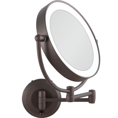 Zadro Led Lighted Cordless Round Double Sided Wall Mount Makeup