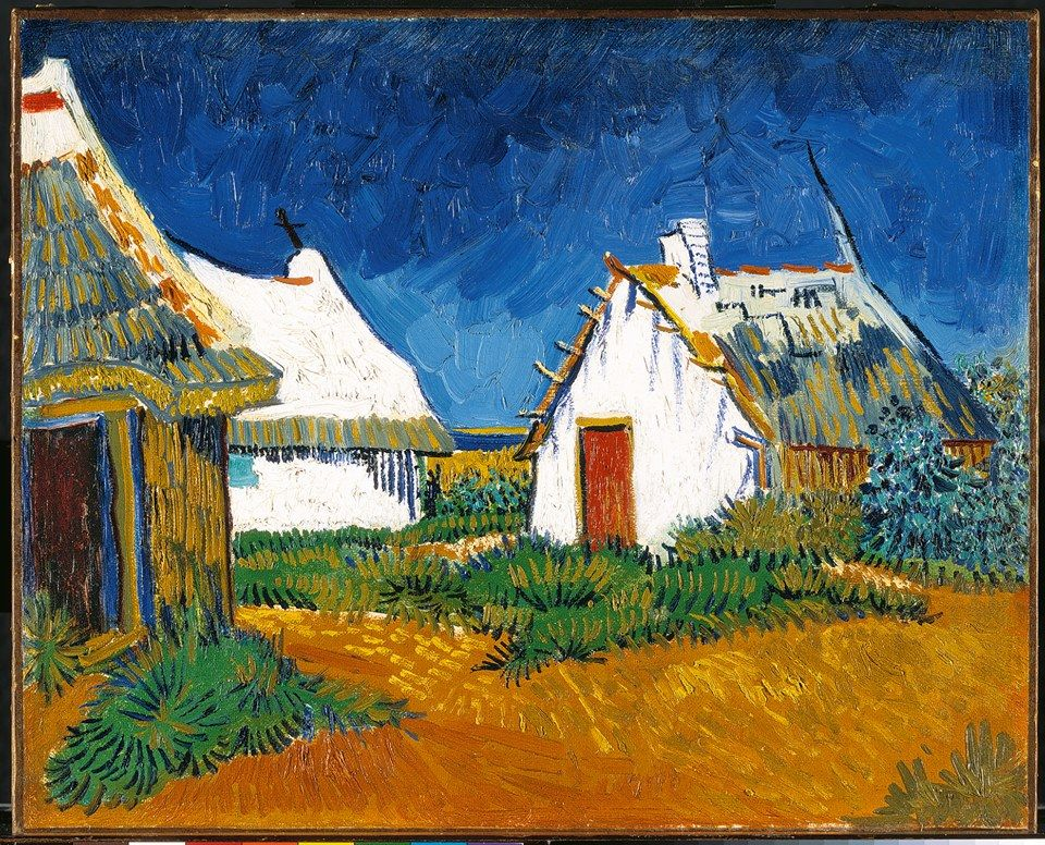 Houses in as santas-Marias-do-Mar, Vincent Van Gogh (1888) Kunsthaus ...