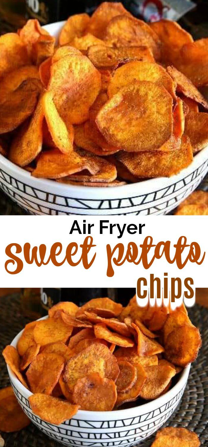 Photo of Air Fryer Sweet Potato Chips