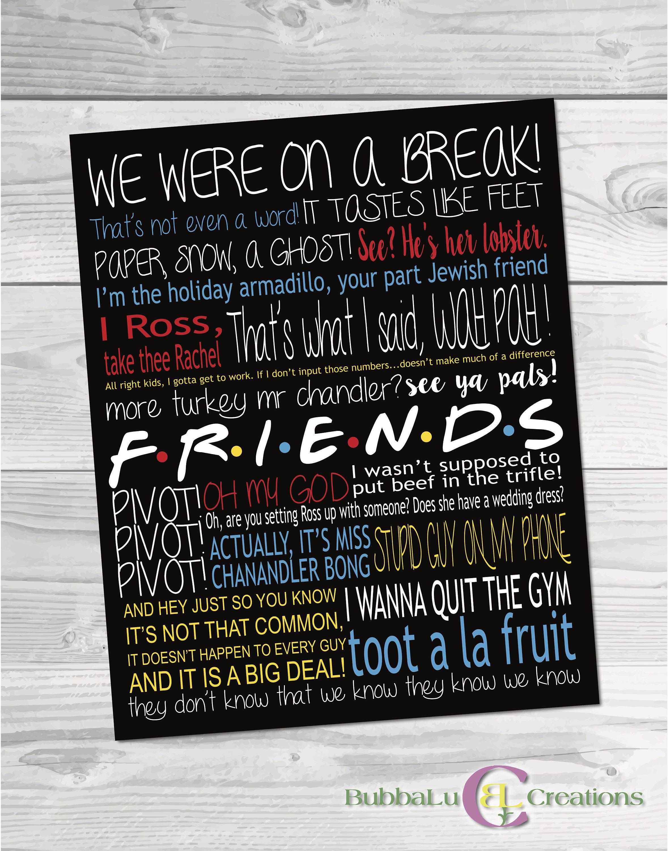 Friends Show Artwork. Friends Show. Subway Art. Friends TV Show ...