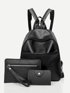 09754c921 Faux Leather Backpack Set 3pcs in 2018 | Women's Accessories | Pinterest |  Women's accessories, Leather Backpack and Faux leather backpack