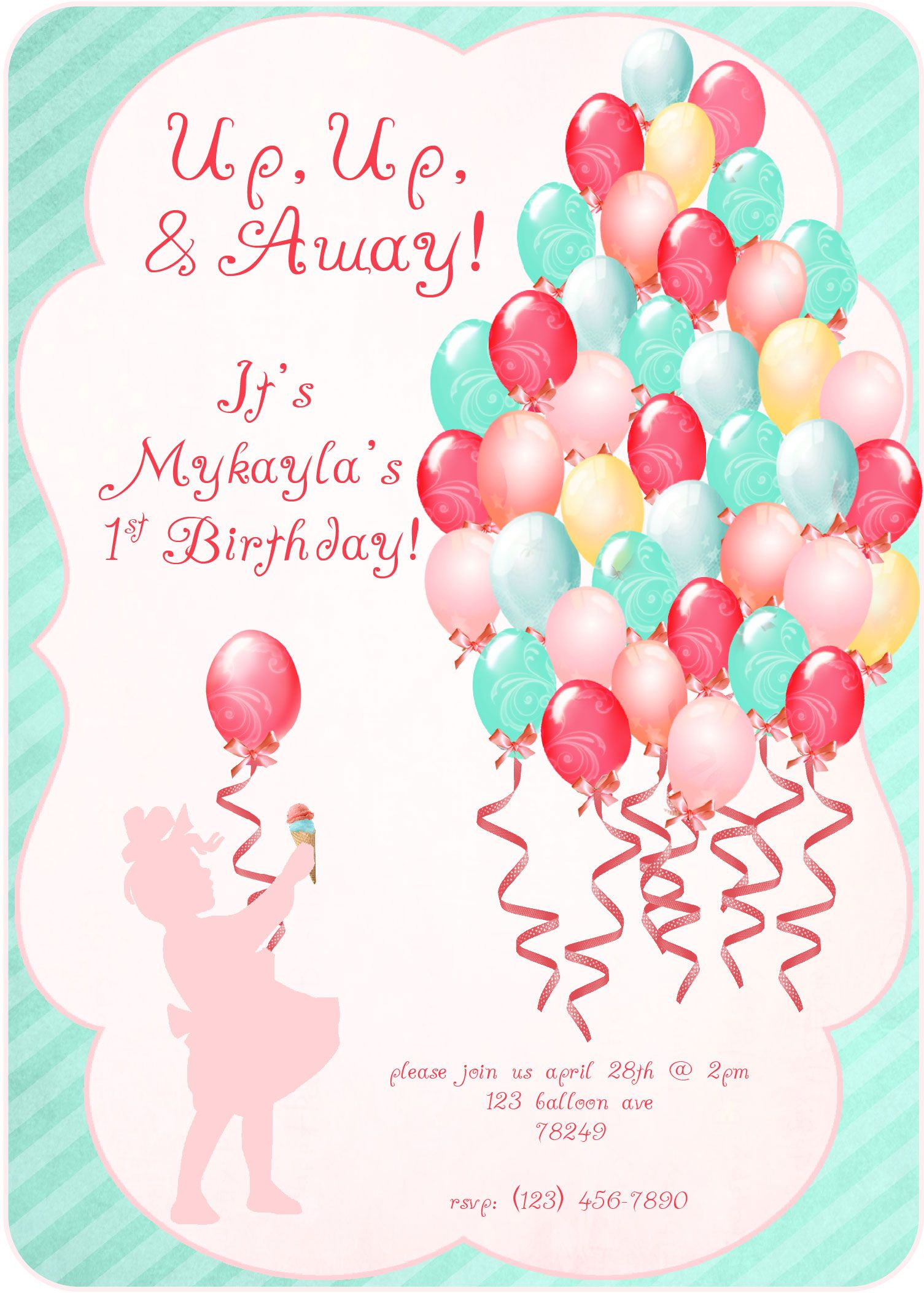 balloon party invitation | Up, Up, & Away! Parties & Ideas ...