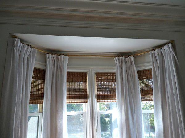 Portrayal Of Ceiling Mount Curtain Rod Ideas Bow Window