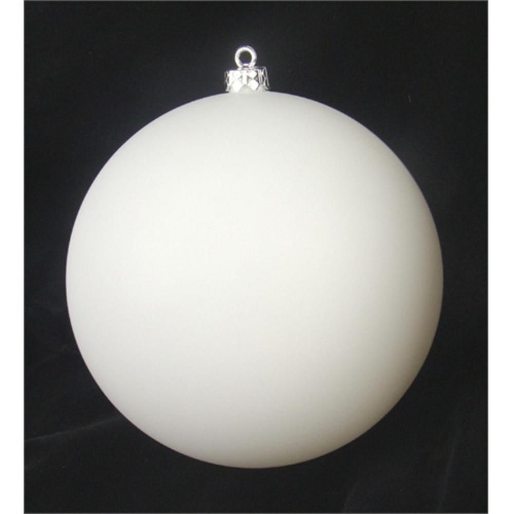 Northlight Matte Winter White Shatterproof Christmas Ball Ornament 31754933 The Home Depot In 2020 Christmas Balls Scandinavian Christmas Christmas Ornaments