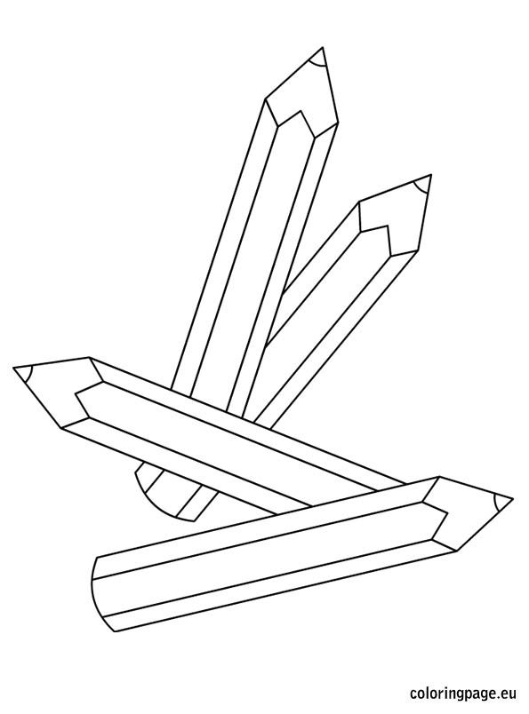 Pencils Coloring Page Coloring Pages Pencil Colouring Pages