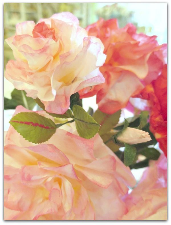 Coffee Filter flowers for Valentine\'s Day