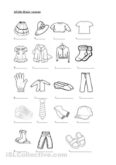 Spanish Clothing Worksheets Free Education Pinterest
