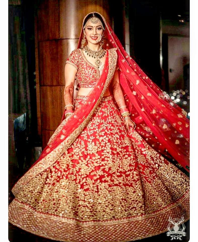 c003b20b36 Lehenga in Red | Indian and Pakistani Brides in 2019 | Bridal ...