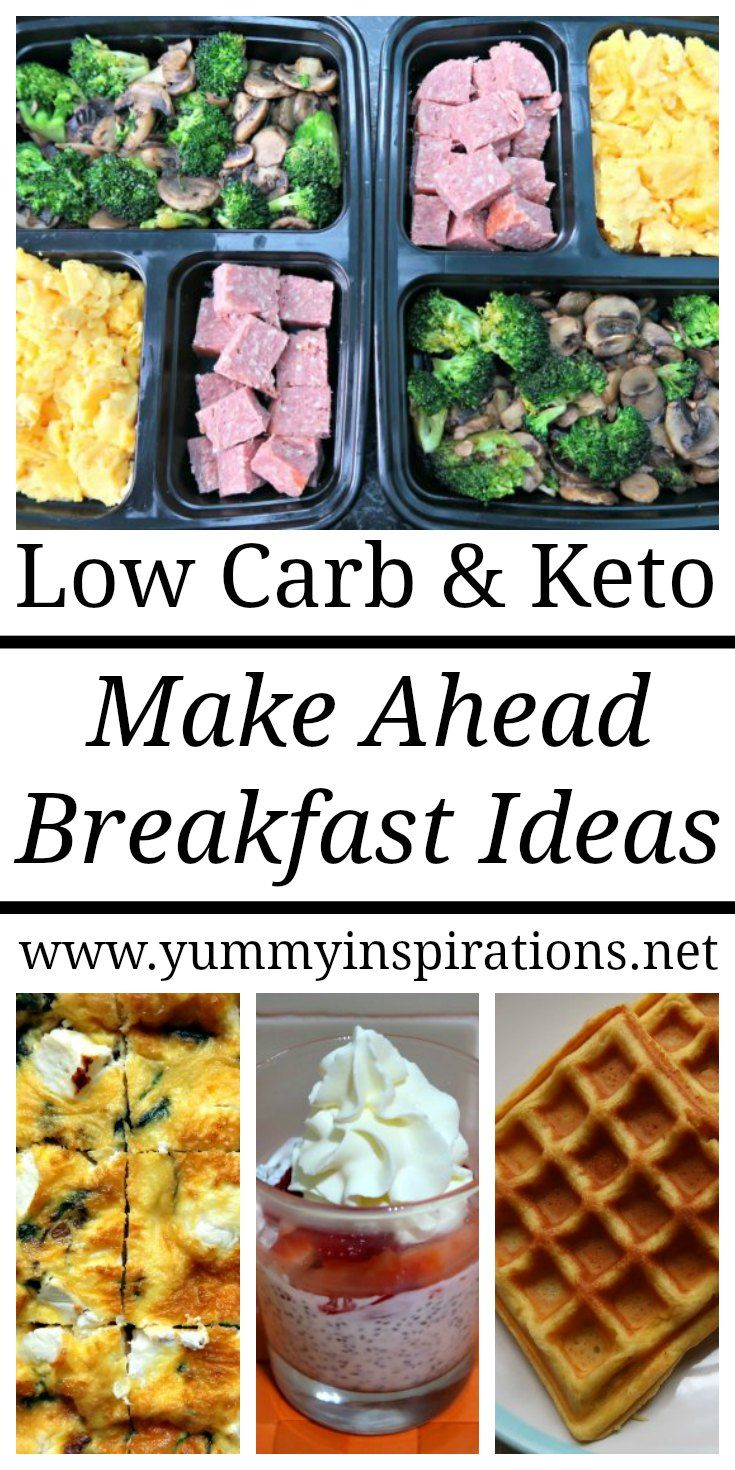 Easy Make Ahead Breakfast Ideas - Low Carb & Keto Diet Recipes images