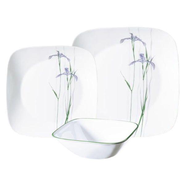 CORELLE® Square™ Shadow Iris 18-pc Set - I want ). Dinner PlatesDessert ...  sc 1 st  Pinterest & CORELLE® Square™ Shadow Iris 18-pc Set - I want :) | For the Home ...