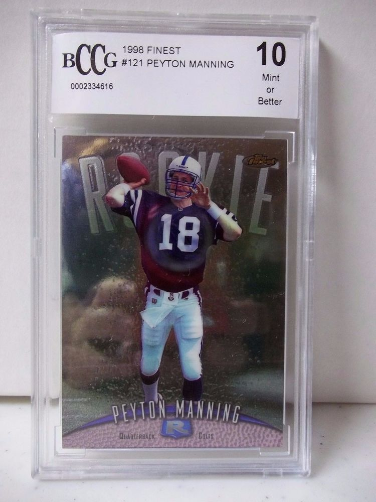 1998 topps finest peyton manning rookie graded bccg mint
