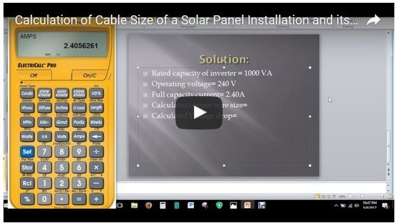 How To Calculate The Cable Size And Voltage Drop In A Solar Panel Installation Solar Panel Installation Solar Panels Solar Panel Kits