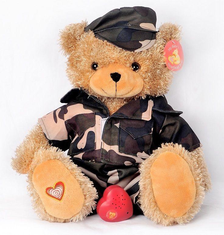 Recordable Teddy Bear Walmart, Military Bear Personalised Teddy Bears Bear Baby Heartbeat