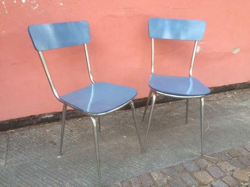 Sedie Formica ~ Sedie vintage di una vecchia scuola francese anni four chairs