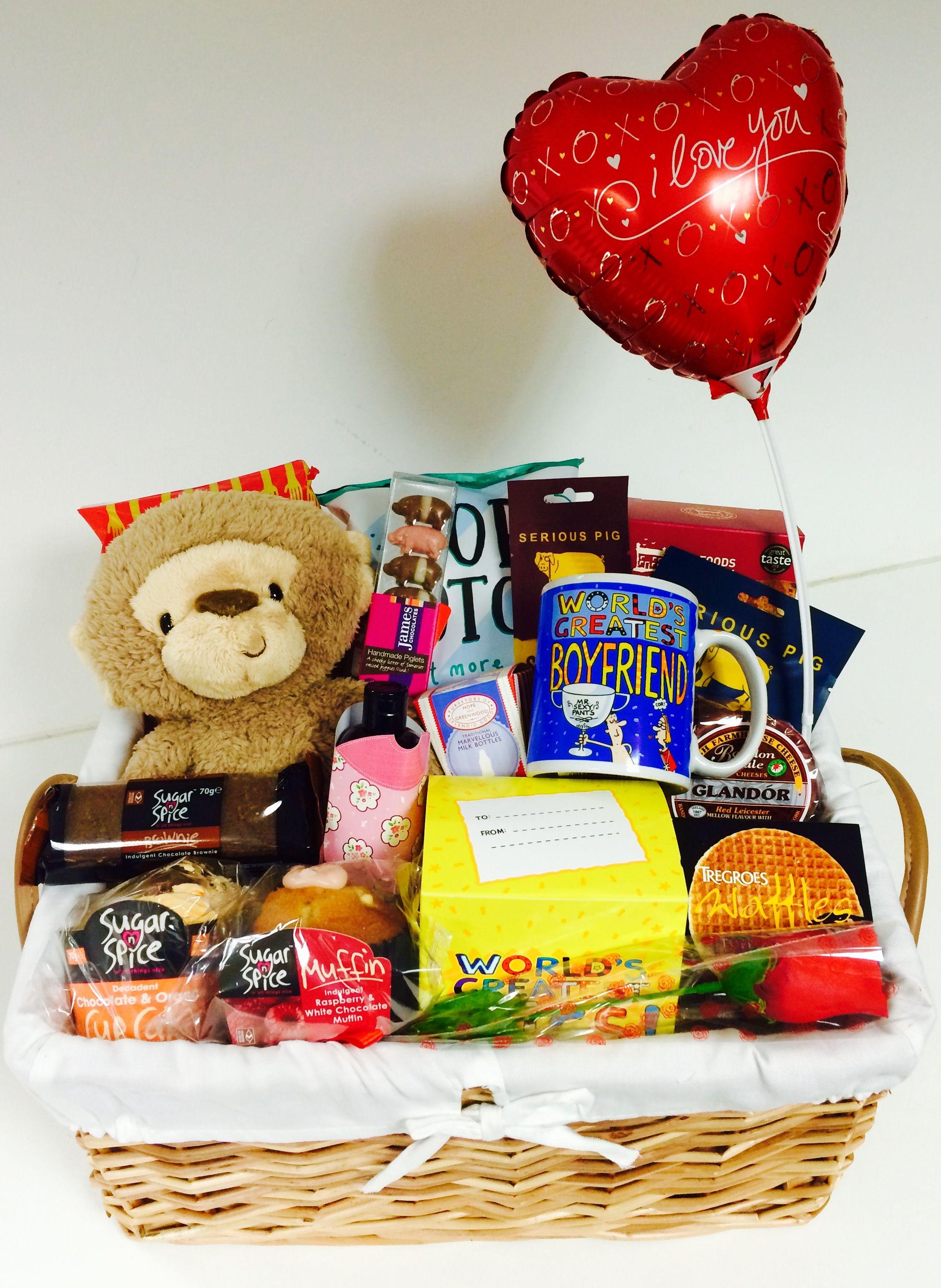 No 1 Boyfriend gift basket perfect for Valentine's Day, an