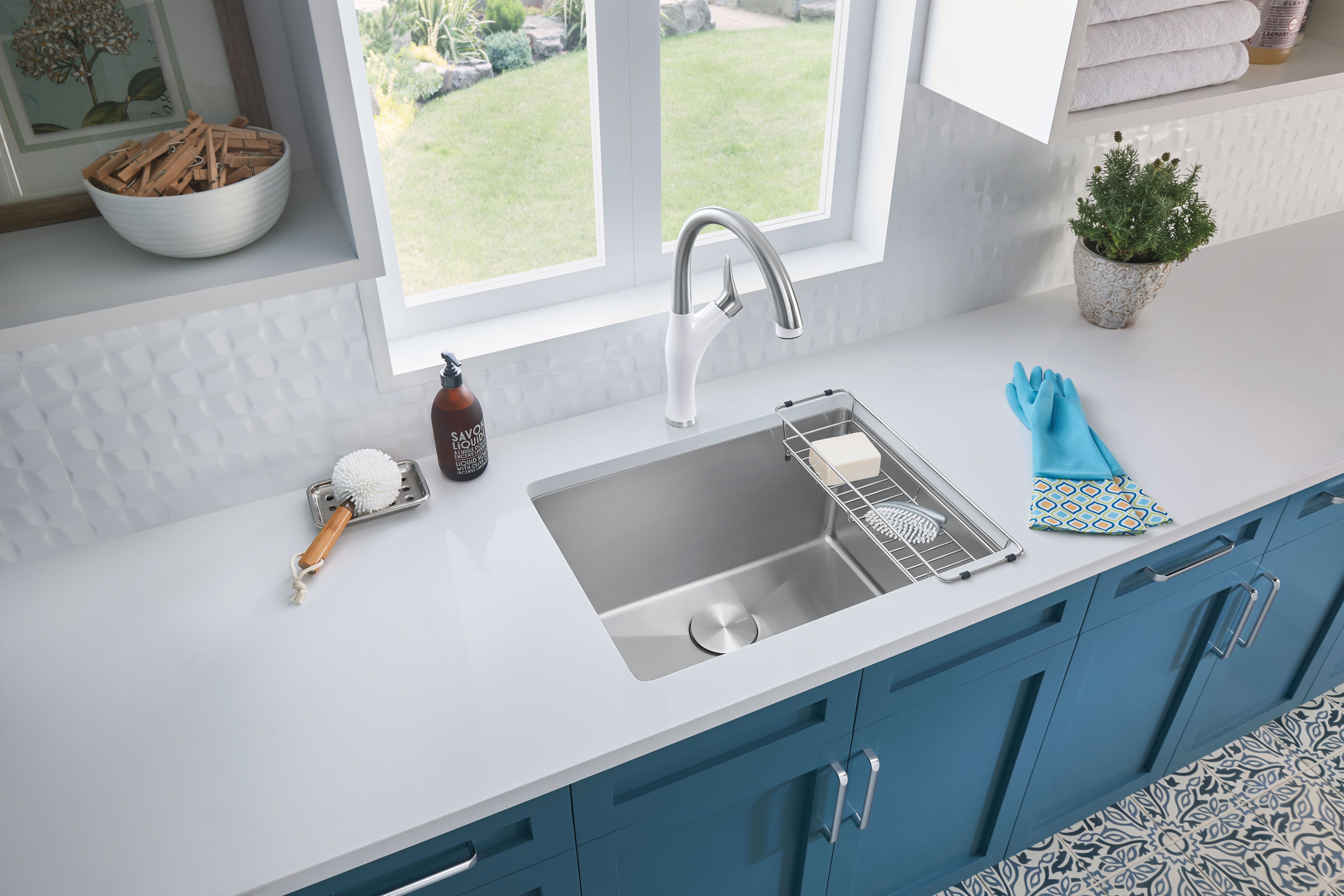 Modern Laundry Room With Stainless Steel Sink Sink Single Basin