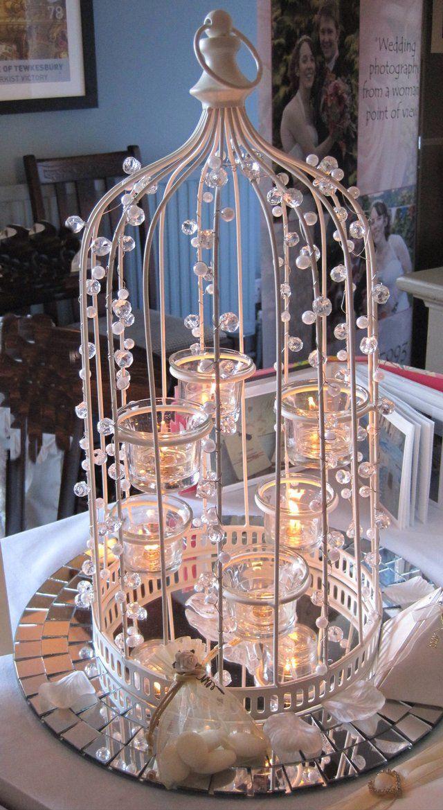 Ivory Birdcage Wedding Table Decoration For Sale Wedding Ideas