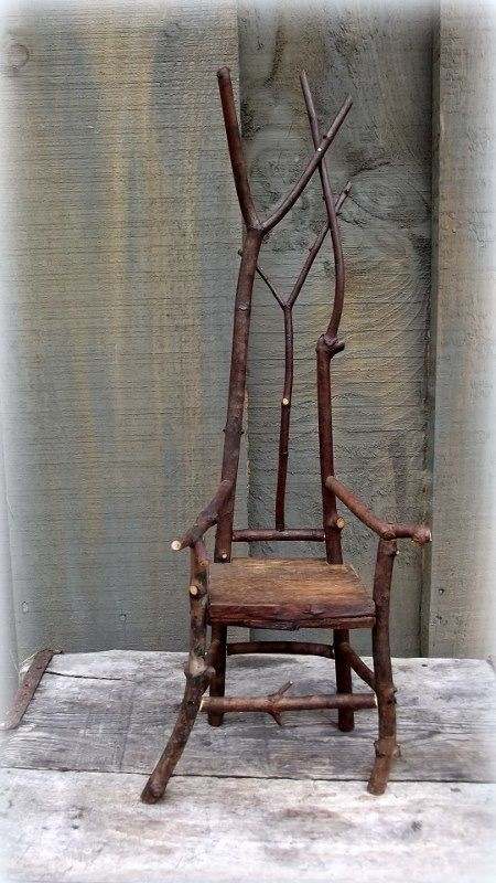 Miniature Rustic Chairs Made To Order By Jo Kilmer Rustic Artist Of Spirit  Tall, Murphy