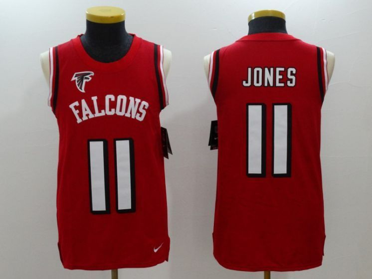 Men Atlanta Falcons 11 Julio Jones Red Rush Player Name Number Tank Top  stitched NFL Jerseyscheap e7d09589e