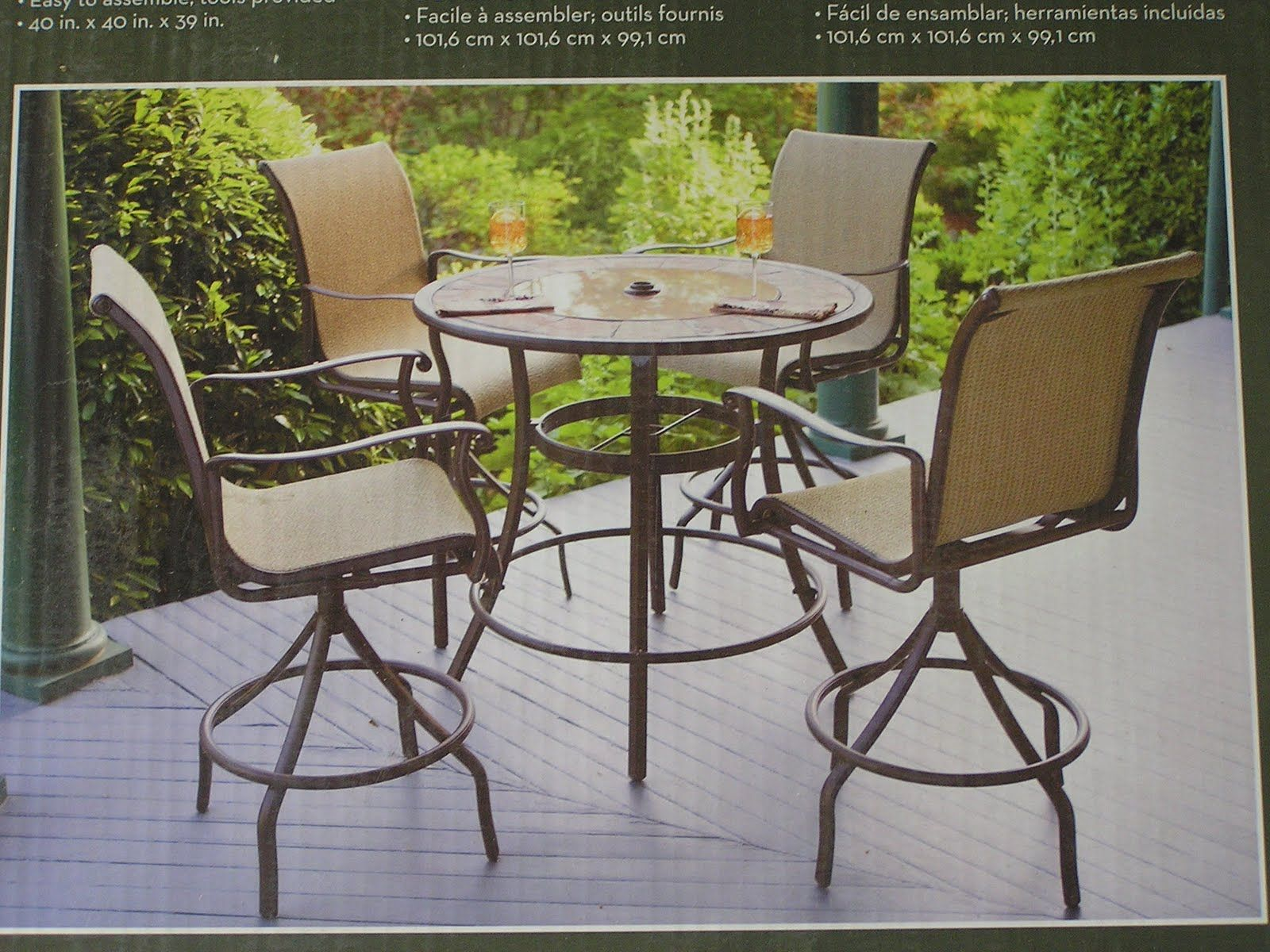 Bar High Patio Table And Chairs
