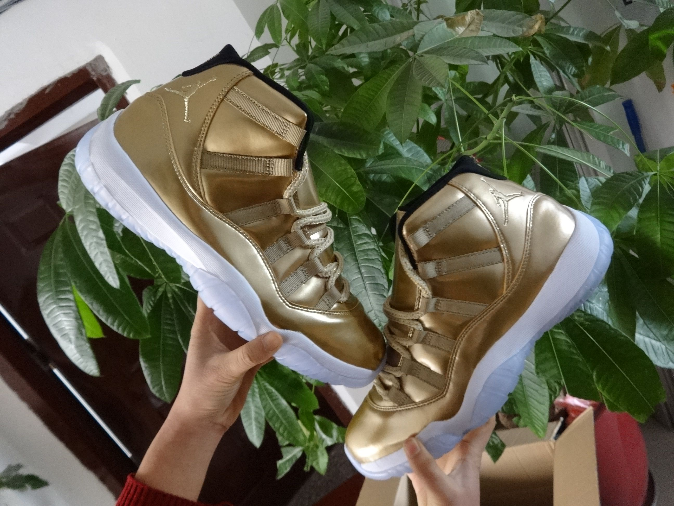 8959b4ee5636f4 jordan 11s usher gold is in stock now!!319  sneakerbook.org