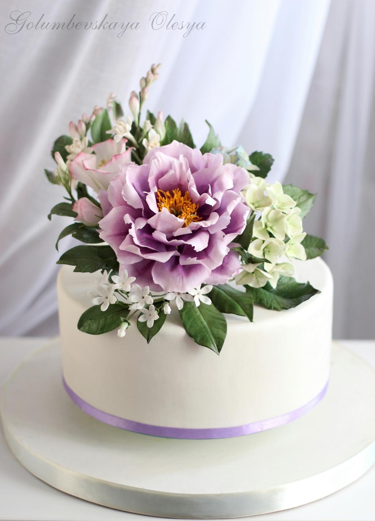 Фотография (с изображениями)   Свадебные торты с пионами ...