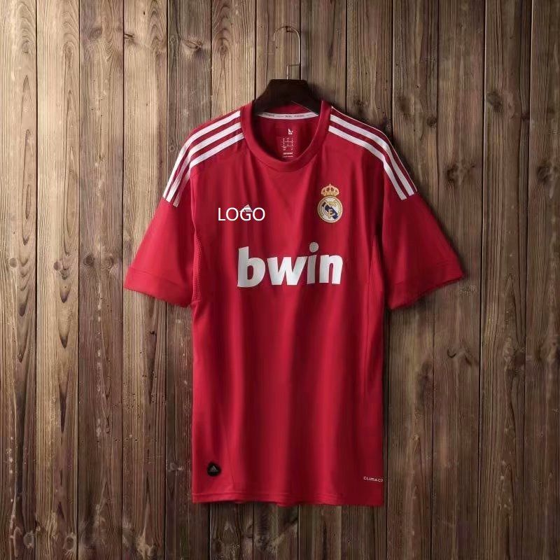 2012 Adult Fan Version Real Madrid Red Retro Soccer Football Jersey Soccer Jersey Football Jerseys Jersey