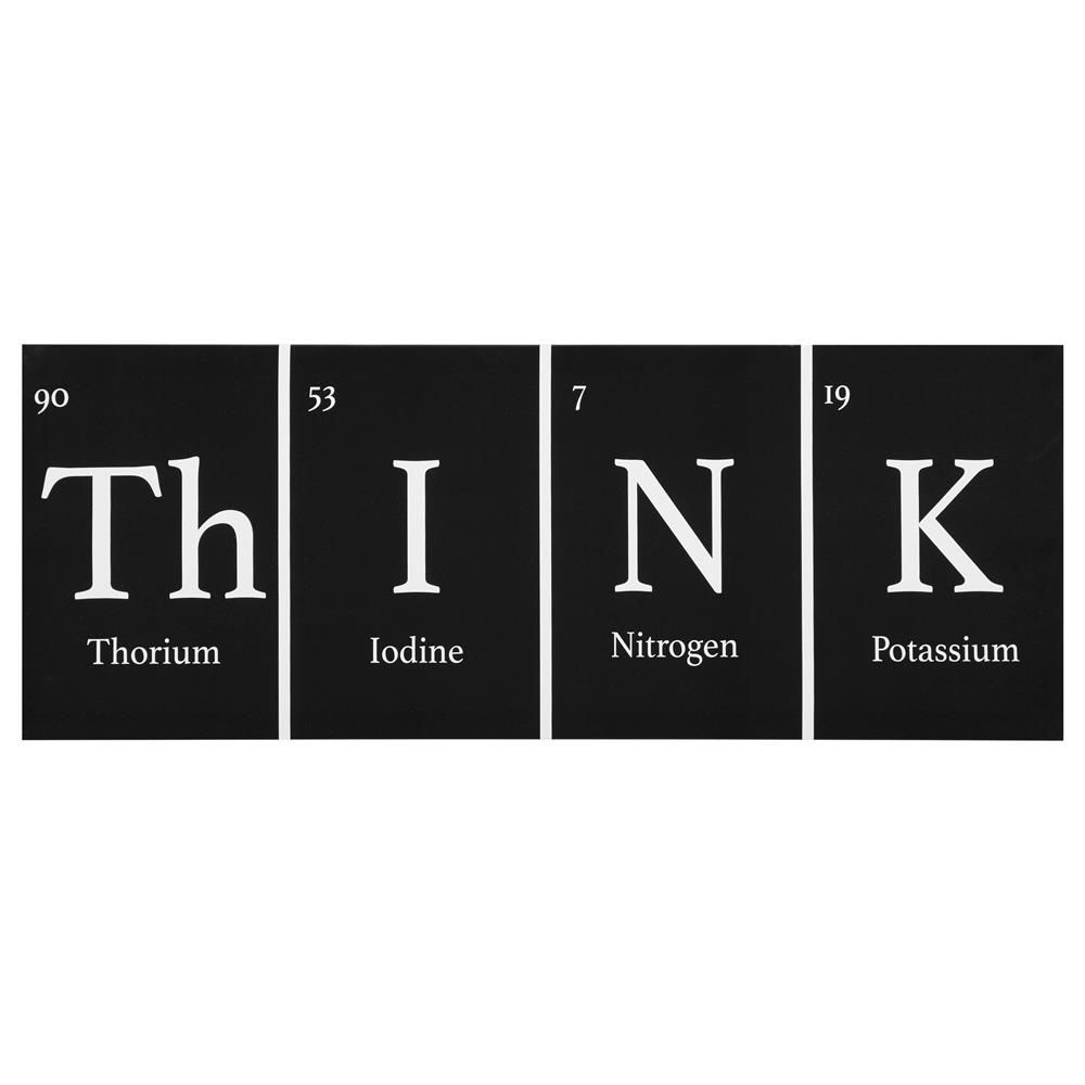 Think Periodic Table Canvascanvas Framed Artwall Decorbouclair