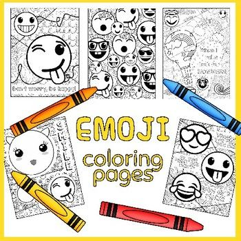 Emoji Coloring Pages with Growth Mindset Sayings | Art Teachers\' TpT ...