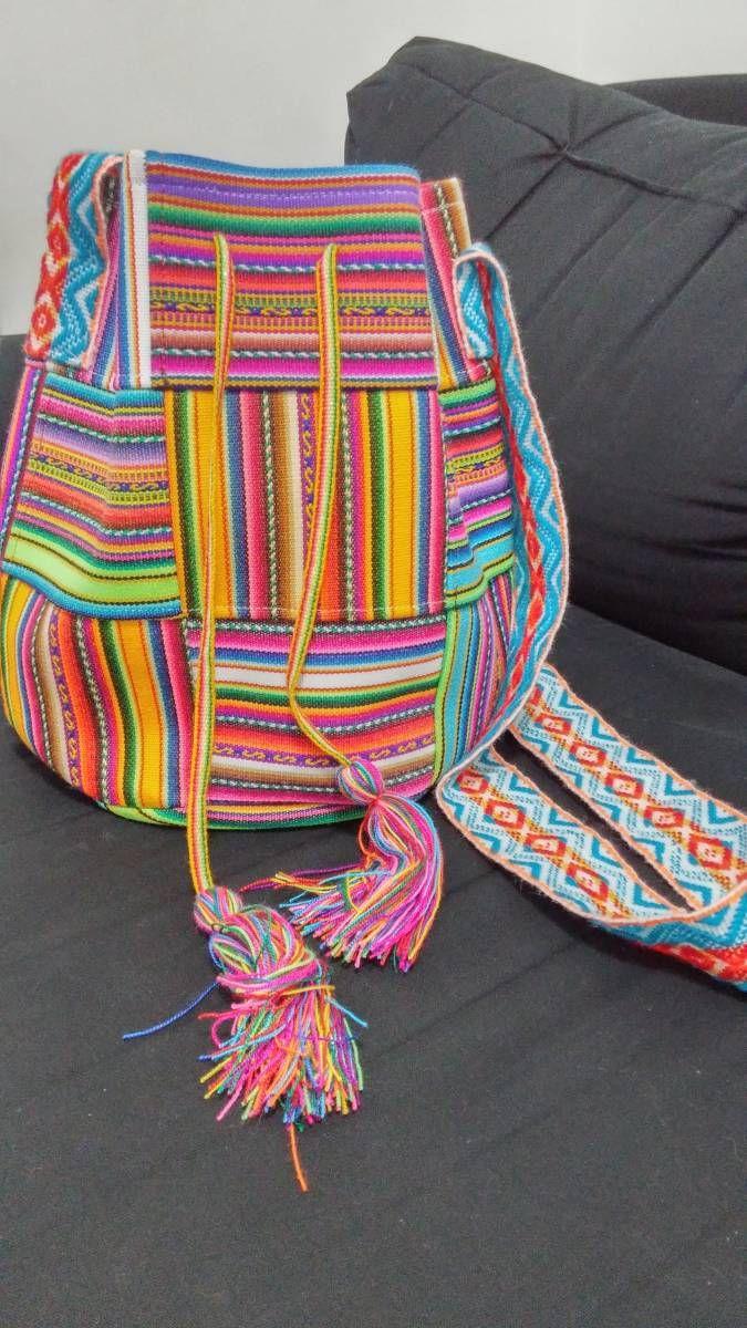 e3e0278d1 bolsa tipo saco wayuu peruana - ombro wayuu | bolsas, carteiras ...
